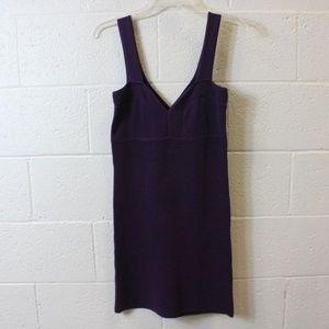 BCBGMAXAZRIA Purple Knit Dress
